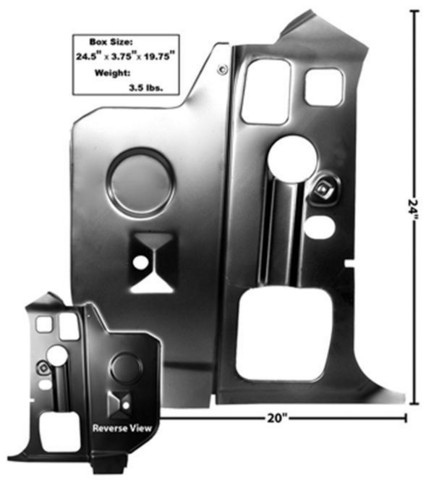 Tulipelllin Sisempi Sivupaneeli Oikea 1970-74 E-Body
