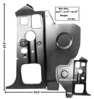 Tulipelllin Sisempi Sivupaneeli Vasen 1970-74 E-Body