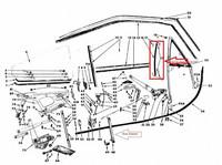 Etusivulasien Pysty Ohjaintiiviste Pari 1966-70 B-Body