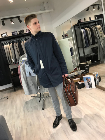Bugatti trench coat navy