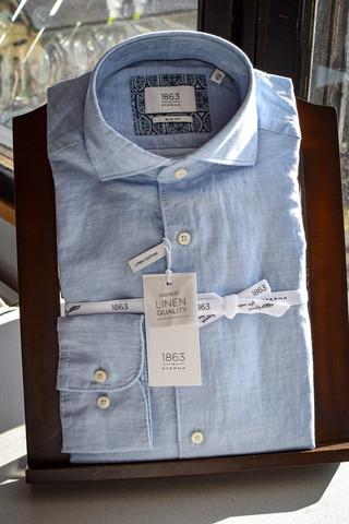 Eterna linen/cotton slim fit