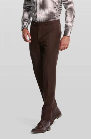Van Gils mix n' match ruskeat suorat housut