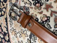 Cognacin ruskea nahkavyö (puku)