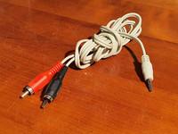 AUX -kaapeli 1,5 - 2,5 m (plug/RCA)