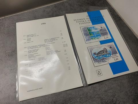 Suomen postimerkit 1986
