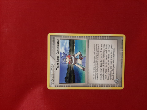Team Aqua Conspirator 77/95 -  EX Team Magma vs Team Aqua