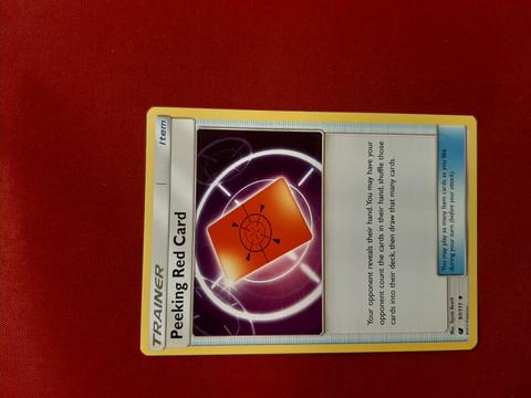 Peeking Red Card 97/111 -  Crimson Invasion