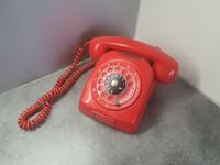 Retro puhelin - punainen (LM Ericsson)