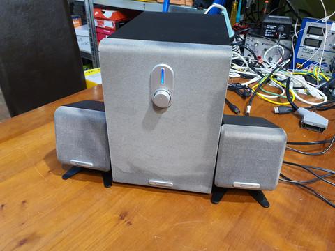 Tietokonekaiuttimet (Typhoon Acoustic 2.1 Basic)