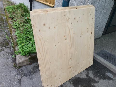Kuusivaneri -levy (120 x 120 x 1,5 cm)