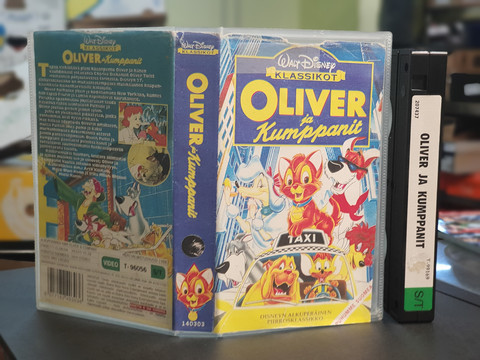 VHS-elokuva (Walt Disney klassikot - Oliver ja kumppanit)