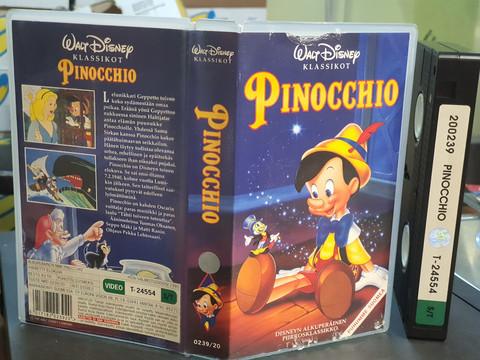 VHS-elokuva (Walt Disney klassikot: Pinocchio)