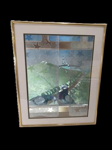Lintuaiheinen taulu (50 x 40 cm)