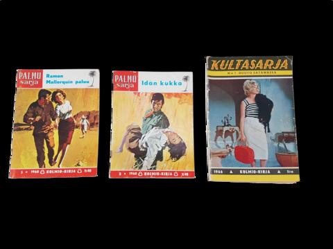 Palmusarja & Kultasarja (3 irtonumeroa 1960-luvun kioskikirjallisuutta)