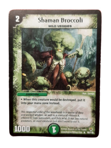 DuelMasters keräilykortti - Shaman Broccoli (Dm-06)