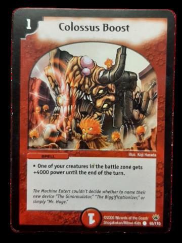 DuelMasters keräilykortti - Colossus Boost (Dm-06)