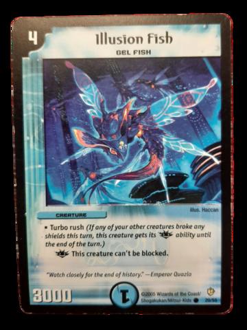 DuelMasters keräilykortti - Illusion Fish (Dm-05)