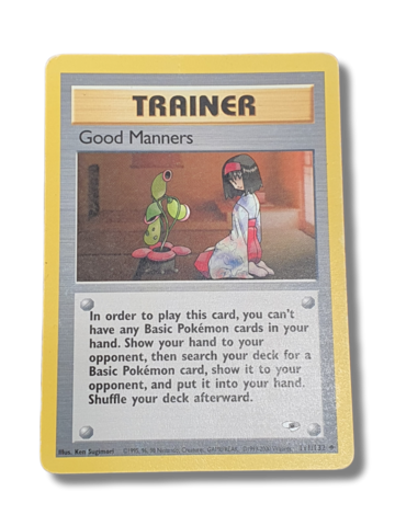 Pokemonkortti Good Manners 111/132 (Gym Heroes)