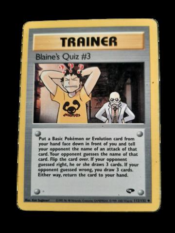Pokemon kortti Blaine's Quiz #3 112/132 (Gym Challenge)