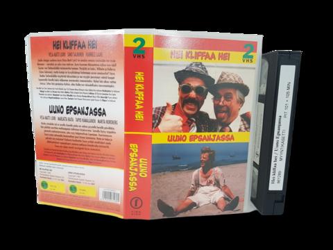 VHS-elokuva (Finnkino 2-VHS : Hei kliffa hei & Uuno Espanjassa) S