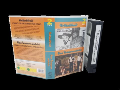 VHS-elokuva (Finnkino 2-VHS : Hirttämättömät & Uuno Turhapuron aviokriisi)