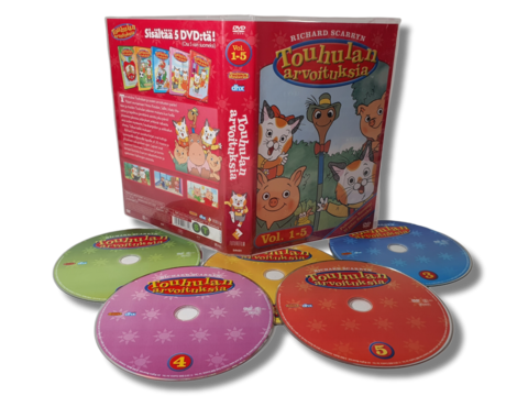 Lasten DVD -elokuva (Touhulan arvoituksia, 5 levyä) S