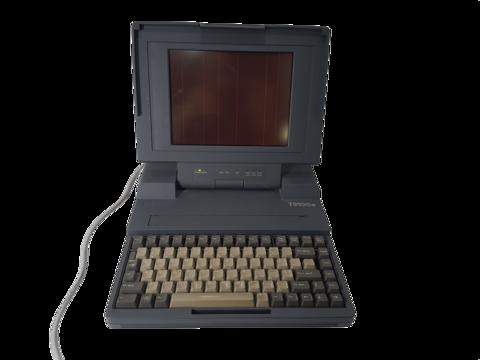 Retro kannettava tietokone (Toshiba T3100e) -PUUTTEELLINEN