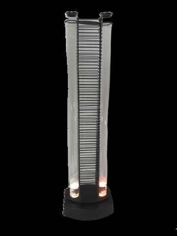Valaistuvesitäytteinen CD -teline (100 cm korkea)