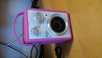 Pinkki keittiöradio (Dantax)