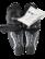 Lasten jääkiekkopolvisuojat, koko 23 cm (CCM)