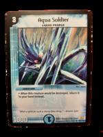 DuelMasters keräilykortti - Aqua Soldier (Dm-04)