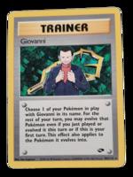 Pokemon kortti Giovanni 104/132  (Gym Challenge)
