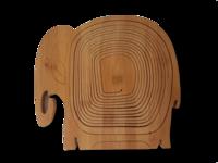 Puinen norsuaiheinen kokoontaittuva hedelmäkori