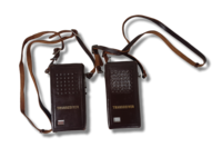 Vanha radiopuhelinpari (Tomura Bussan K.K. Transceiver Type FB-10) -PUUTTEELLINEN