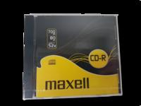 Tyhjiä CD-R -levyjä 9 kpl (Maxell CD-R 700 Mb)