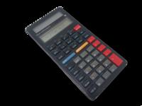 Vanha taskulaskin (Texas Instruments TI-34)