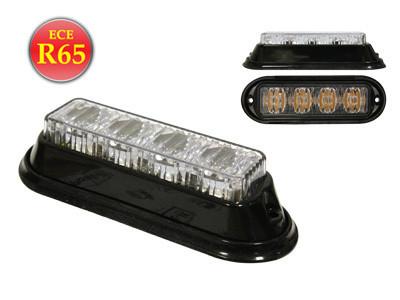 LED-Tasovilkku, 12-24V, R65, Keltainen, 4-LED