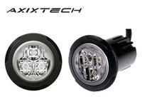 LED-Tasovilkku, Axixtech, pyöreä, 12-24V, R65, Keltainen