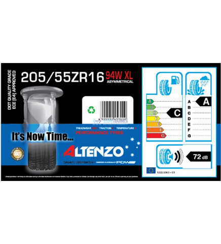 Altenzo Sports Comforter+ 205/55ZR16 94W kesärengas, 4kpl