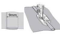 Katesaumajalka 9mm
