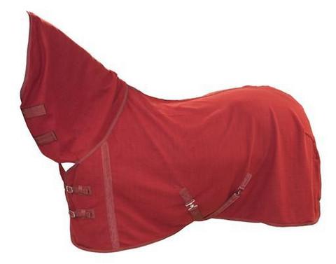 FLEECELOIMI FULL NECK punainen. HORSE COMFORT