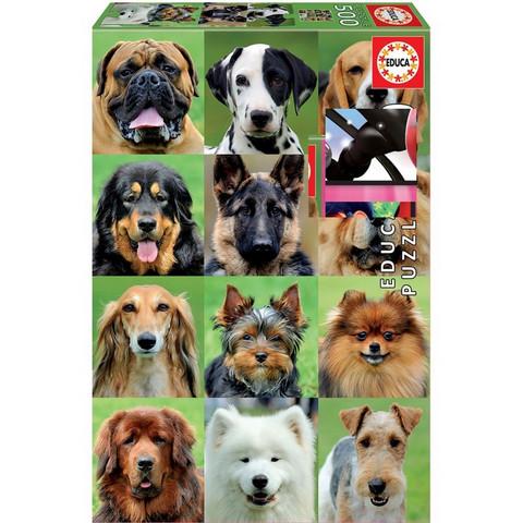 Palapeli koira collage