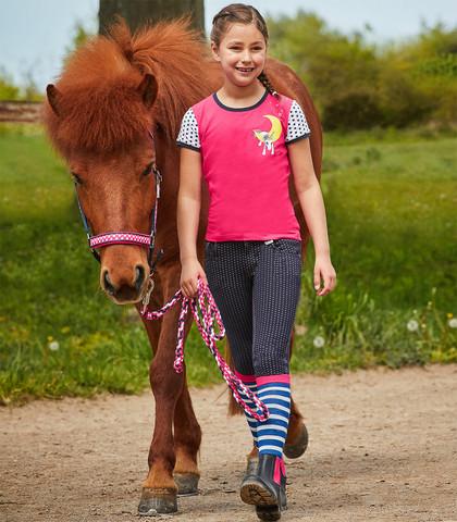 Lasten Unicorn ratsastushousut, koko 140