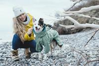 Koiran sadetakki, etulahkeellinen, 35cm