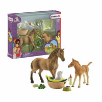 Schleich Horse Club eläinvauvojen hoitosetti