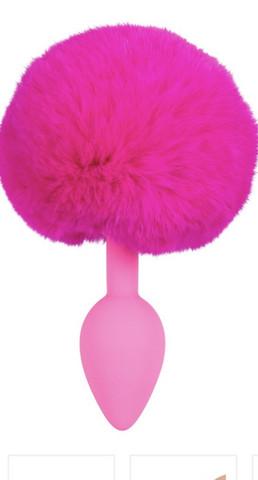 Anaalitappi Bunny tail pinkki pupunhäntä