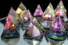 Esoteriinen 12 sivuinen kristalli pyramidi korkeus 40 mm