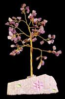 Amethyst Gemstone Tree 80 kiveä - Rautalankapuu jossa on ametistikiviä