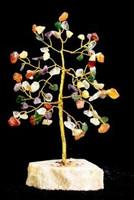 Mixed Gemstone Tree 80 kiveä - Rautalankapuu jossa on kiviä koristeena