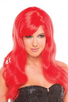Peruukki - Villi laineikas punapää Pamela punapää